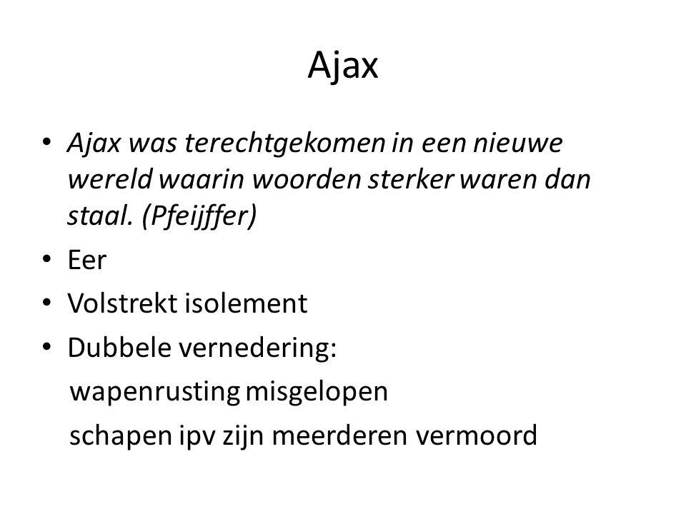 Ajax Ajax was terechtgekomen in een nieuwe wereld waarin woorden sterker waren dan staal.