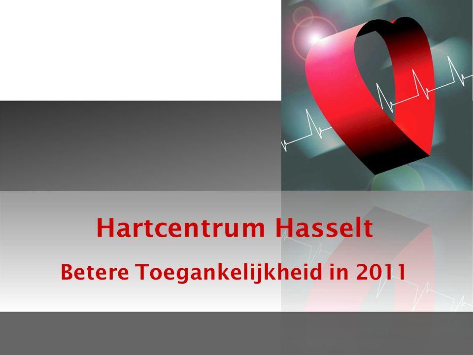 Hartcentrum Hasselt Betere Toegankelijkheid in 2011