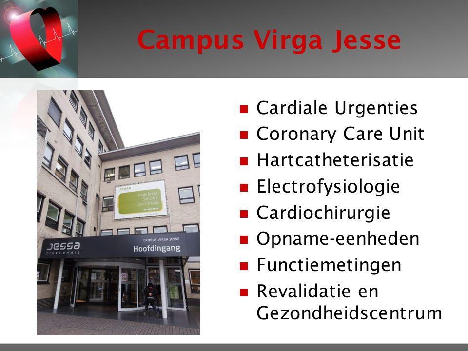 Campus Virga Jesse Cardiale Urgenties Coronary Care Unit Hartcatheterisatie Electrofysiologie Cardiochirurgie Opname-eenheden Functiemetingen Revalidatie en Gezondheidscentrum