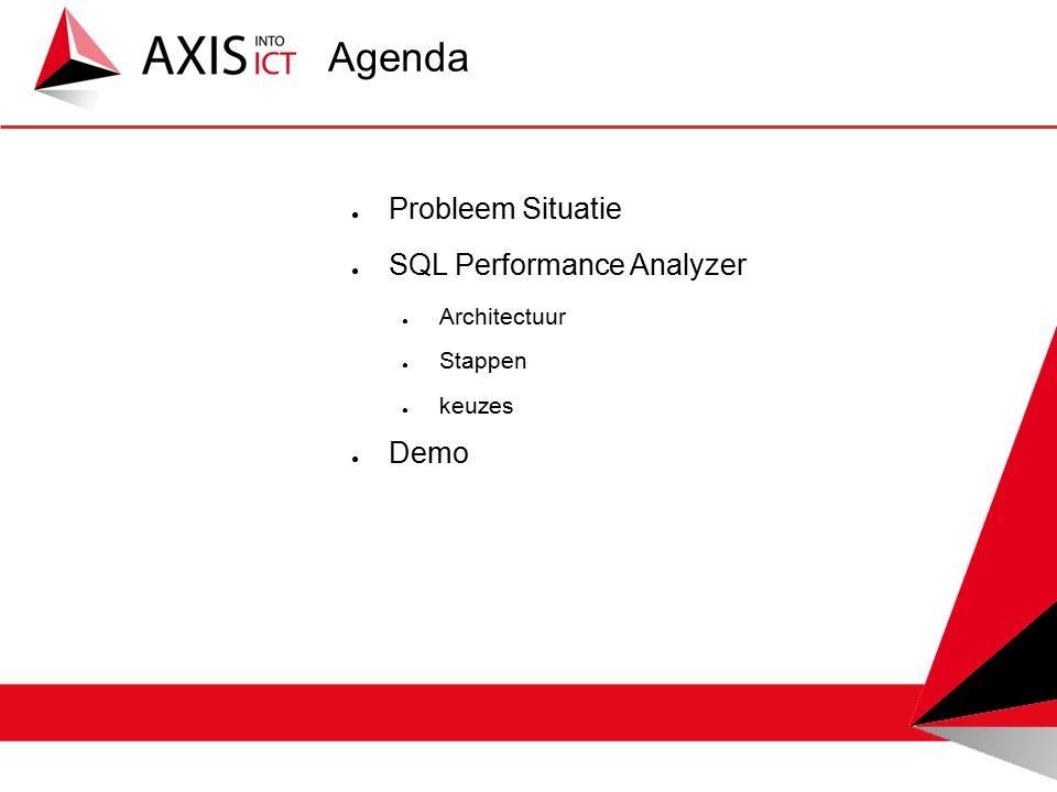 Agenda ● Probleem Situatie ● SQL Performance Analyzer ● Architectuur ● Stappen ● keuzes ● Demo