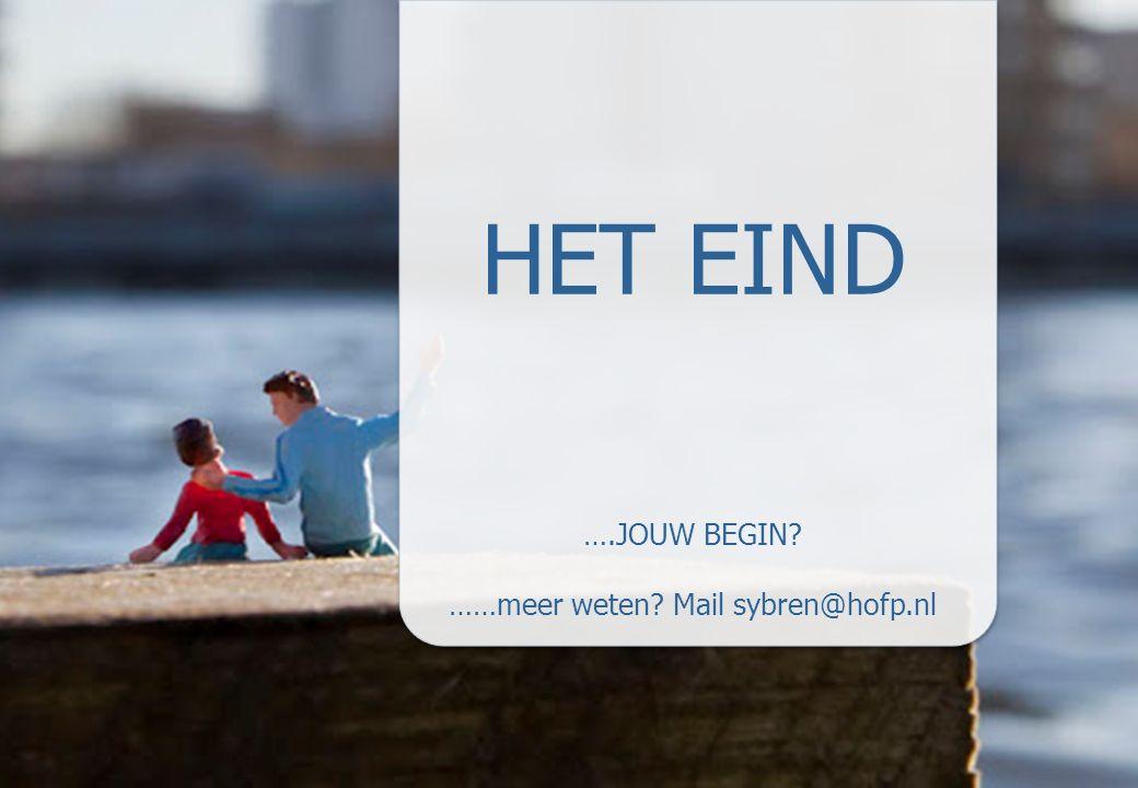 24 HET EIND ….JOUW BEGIN ……meer weten Mail sybren@hofp.nl