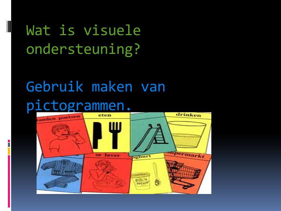 Wat is visuele ondersteuning Gebruik maken van pictogrammen.