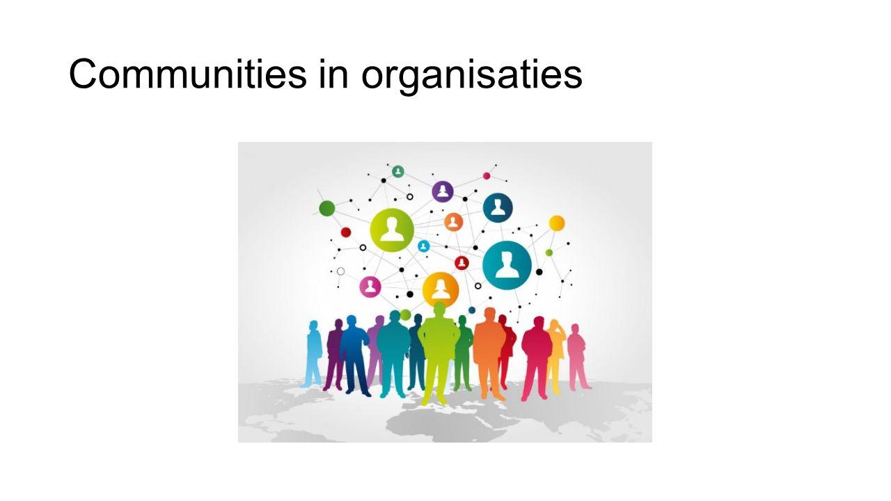 Communities in organisaties