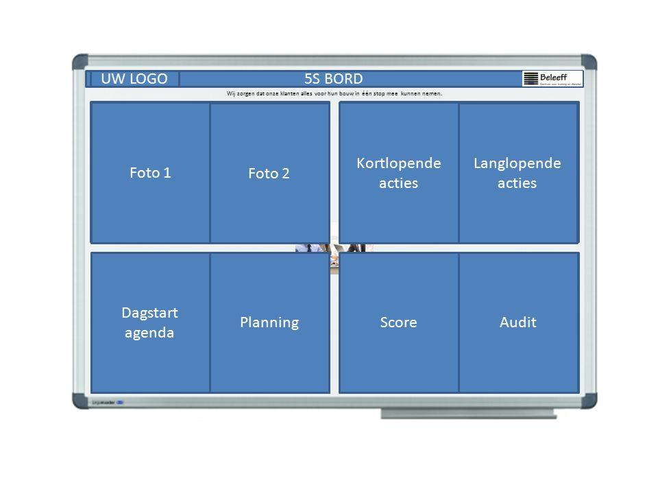 5S BORDUW LOGO Succes Foto's Standaarden Actielijst Score Audit Dagstart agenda Planning Wij zorgen dat onze klanten alles voor hun bouw in één stop mee kunnen nemen.