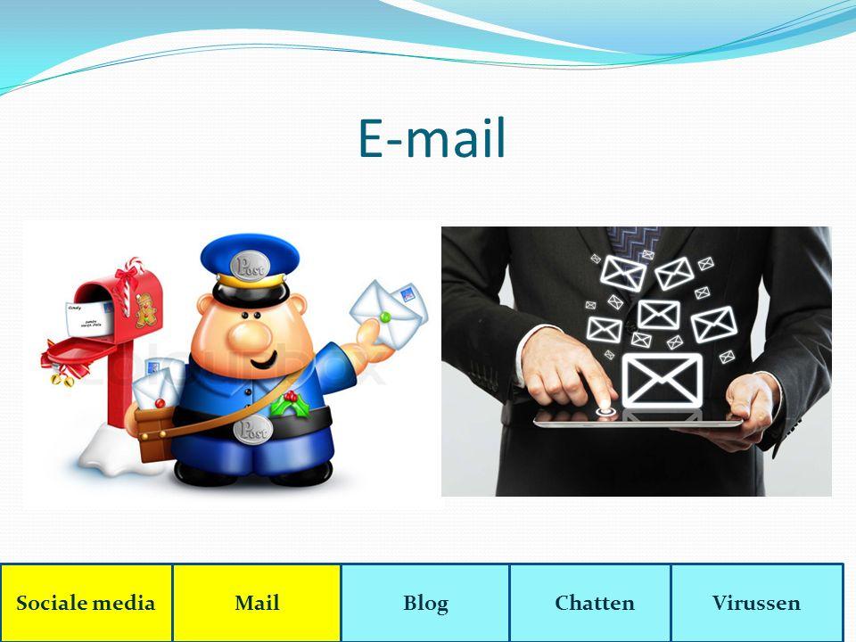 E-mail Sociale mediaMailBlogChattenVirussen