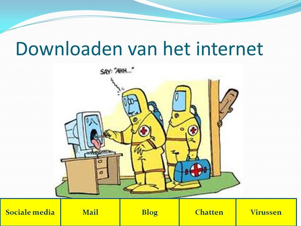 Downloaden van het internet Sociale mediaMailBlogChattenVirussen