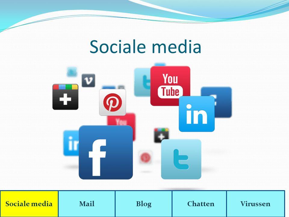 Facebook Sociale mediaMailBlogChattenVirussen