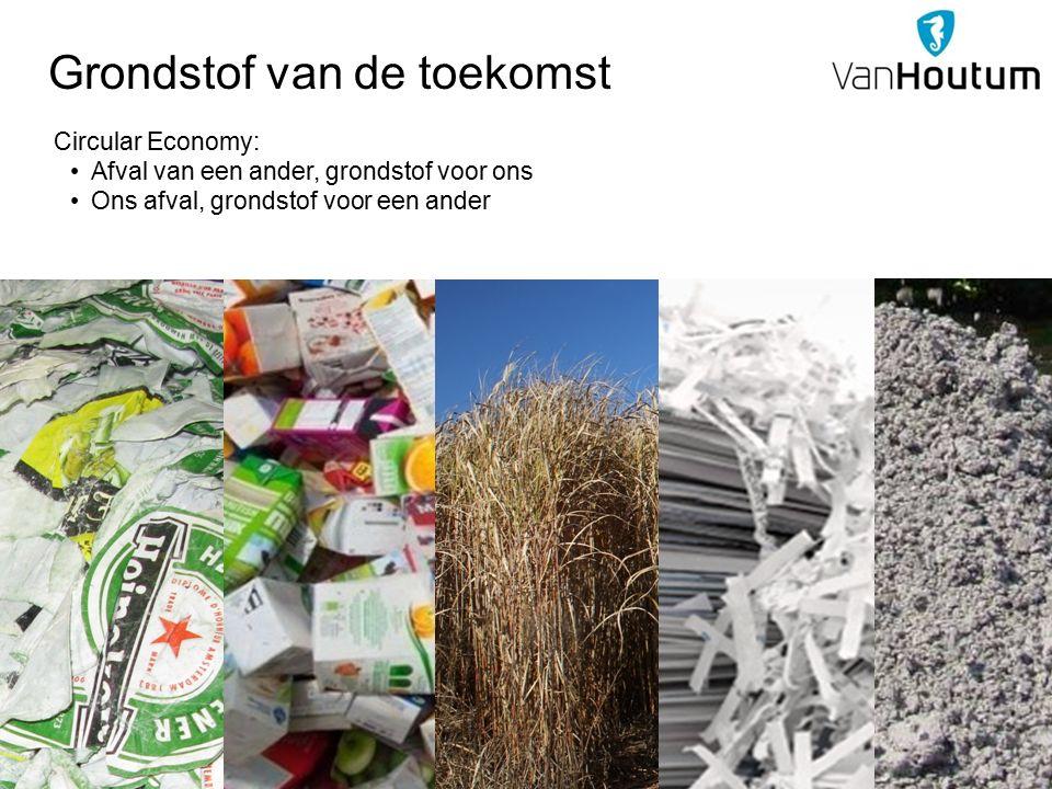 Grondstof van de toekomst Circular Economy: Afval van een ander, grondstof voor ons Ons afval, grondstof voor een ander