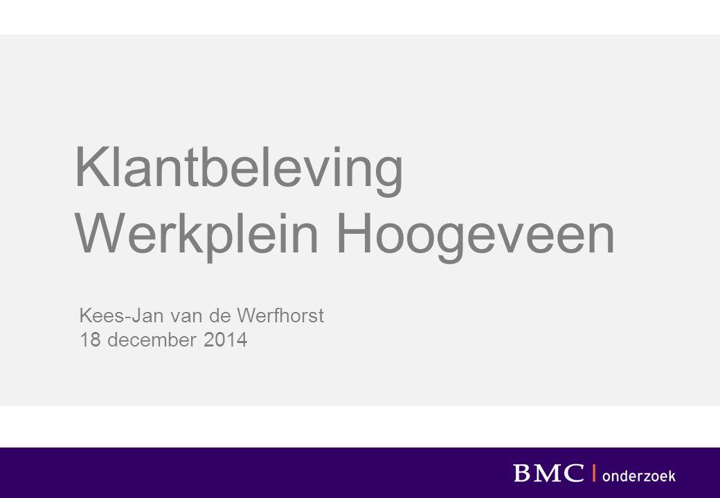 Klantbeleving Werkplein Hoogeveen Kees-Jan van de Werfhorst 18 december 2014