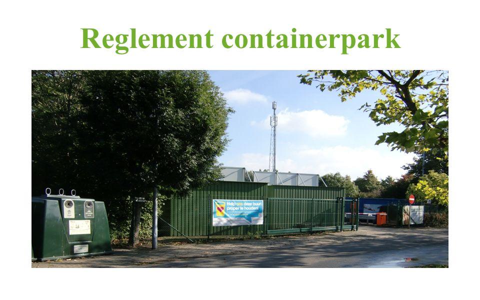 Reglement containerpark
