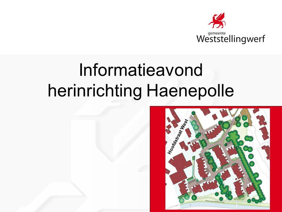 Informatieavond herinrichting Haenepolle Hoofdstraat West