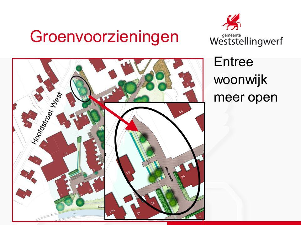 Groenvoorzieningen Entree woonwijk meer open Hoofdstraat West