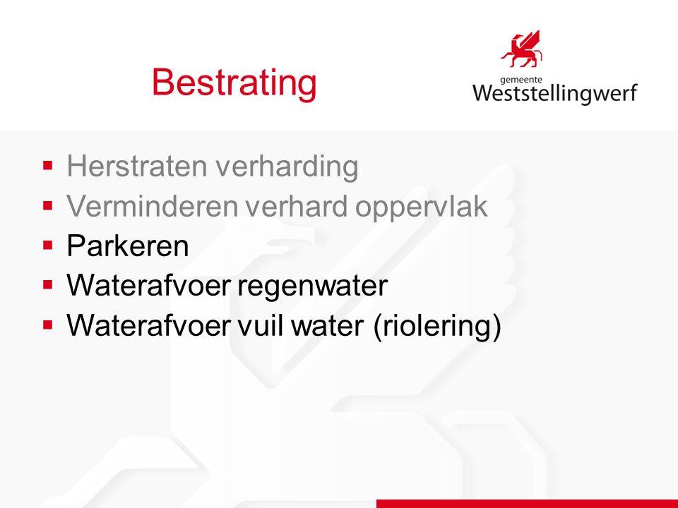 Bestrating Hoofdstraat West Formeel parkeren Wijziging parkeer- situatie Extra parkeer- plaats