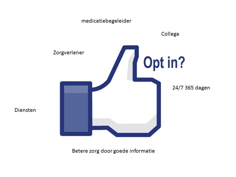 Zorgverlener Collega Diensten 24/7 365 dagen Betere zorg door goede informatie medicatiebegeleider
