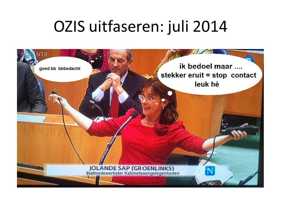 OZIS uitfaseren: juli 2014