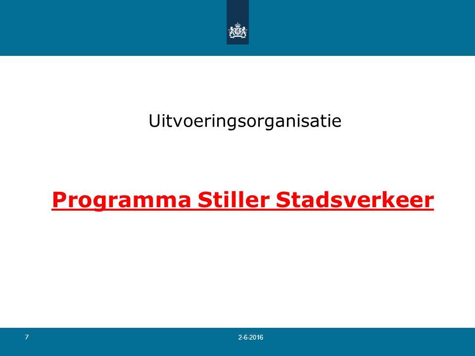 7 Uitvoeringsorganisatie Programma Stiller Stadsverkeer