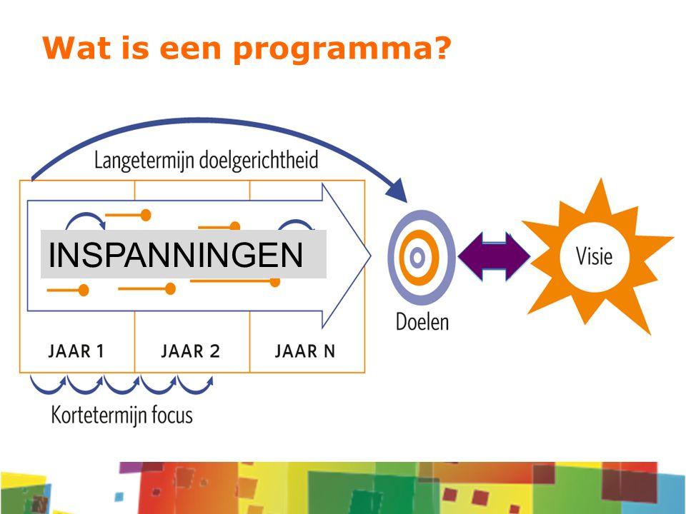 INSPANNINGEN Wat is een programma?