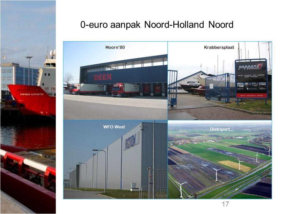 17 0-euro aanpak Noord-Holland Noord