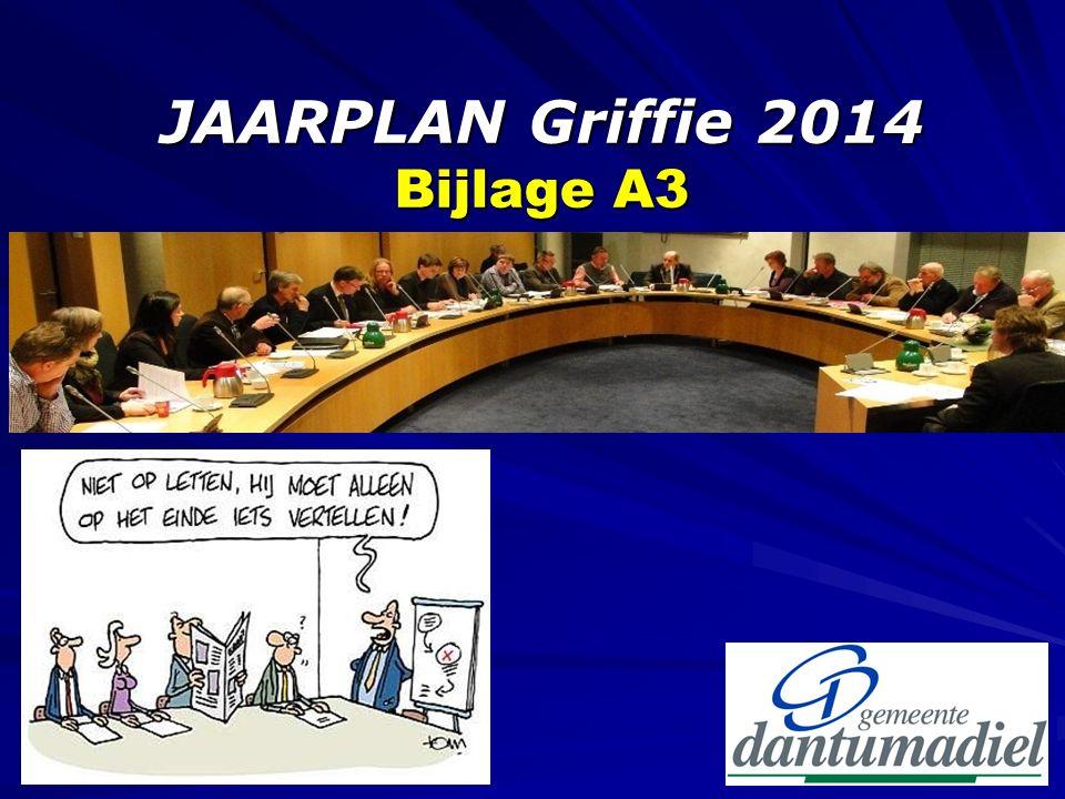 JAARPLAN Griffie 2014 Bijlage A3