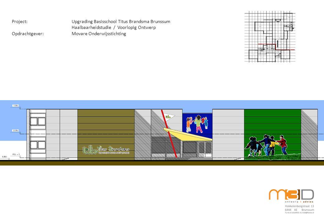 Project:Upgrading Basisschool Titus Brandsma Brunssum Haalbaarheidstudie / Voorlopig Ontwerp Opdrachtgever:Movare Onderwijsstichting
