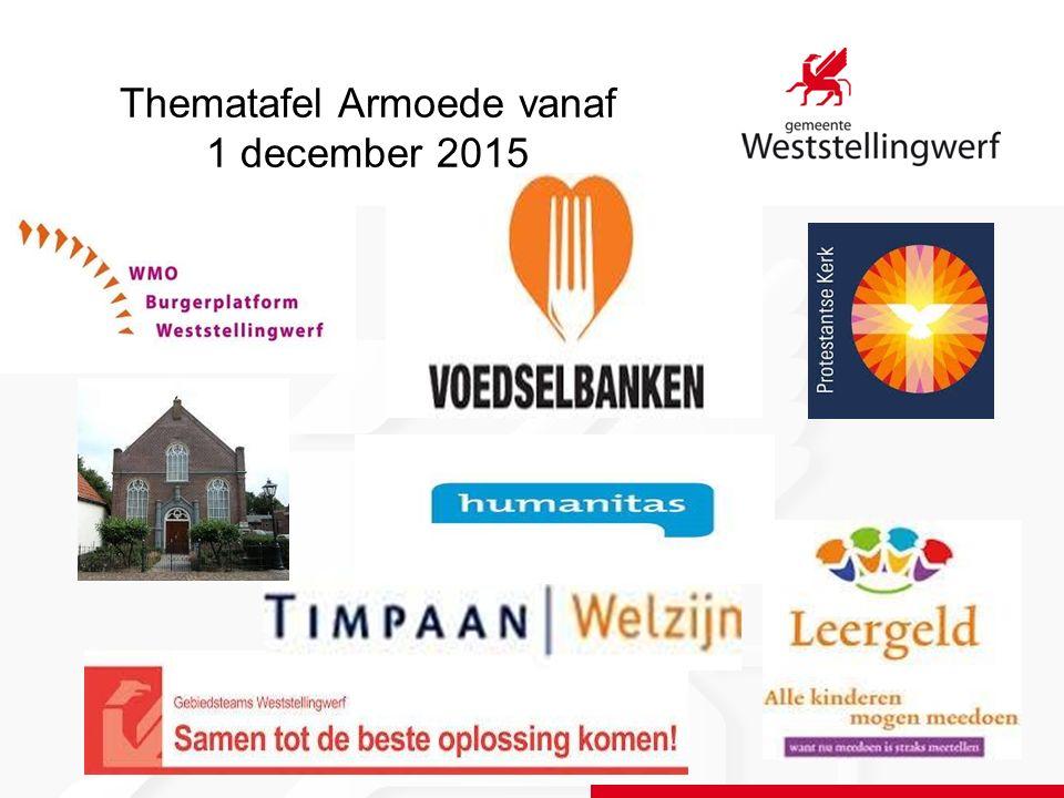 Thematafel Armoede vanaf 1 december 2015