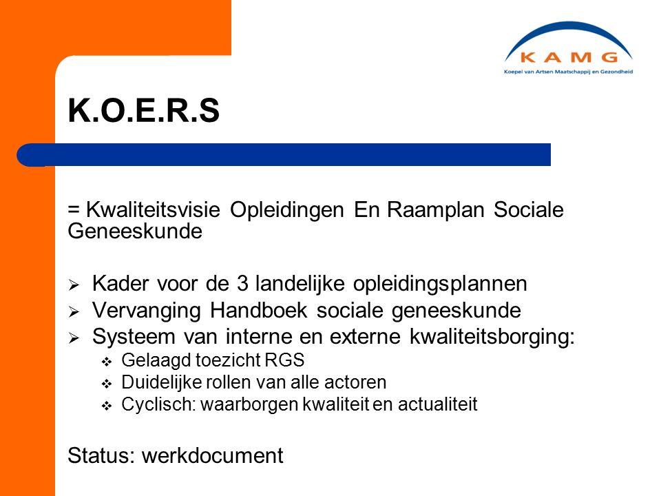1.Project kwaliteitsborging opleidingen sociale geneeskunde 3 Deelprojecten: 2.