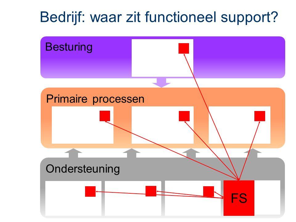 Ondersteuning Primaire processen Bedrijf: waar zit functioneel support FS