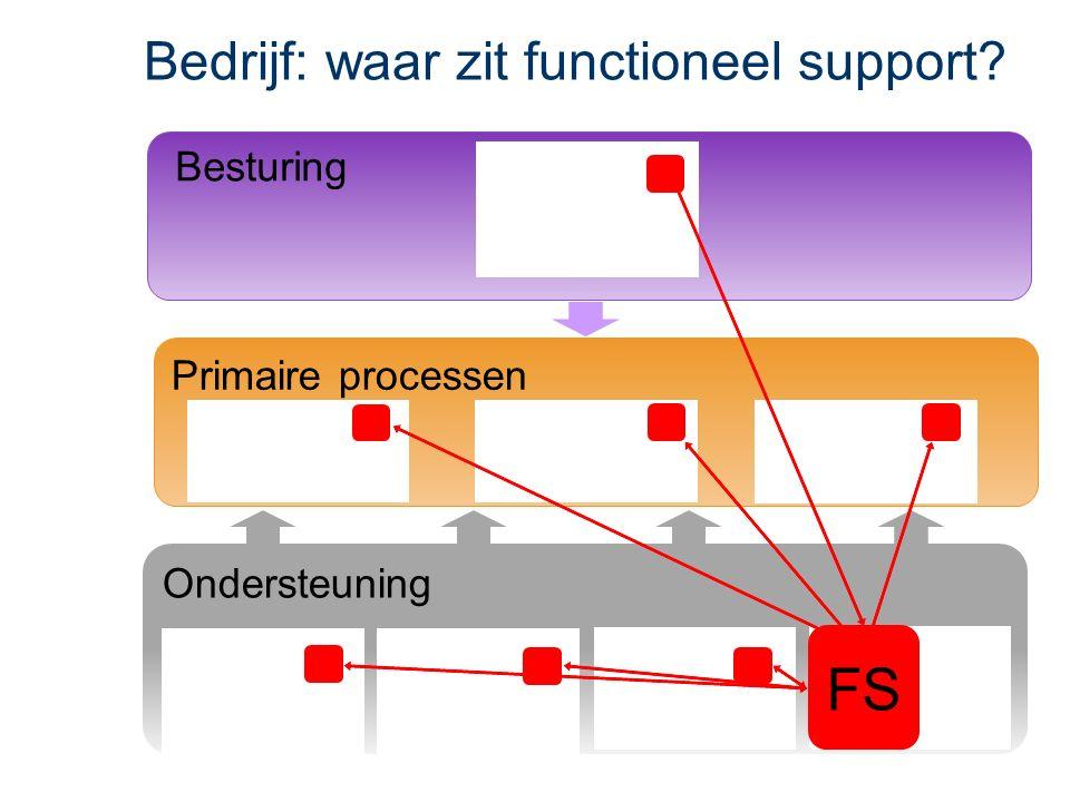 Primaire processen Besturing Ondersteuning FS Besturing Bedrijf: waar zit functioneel support