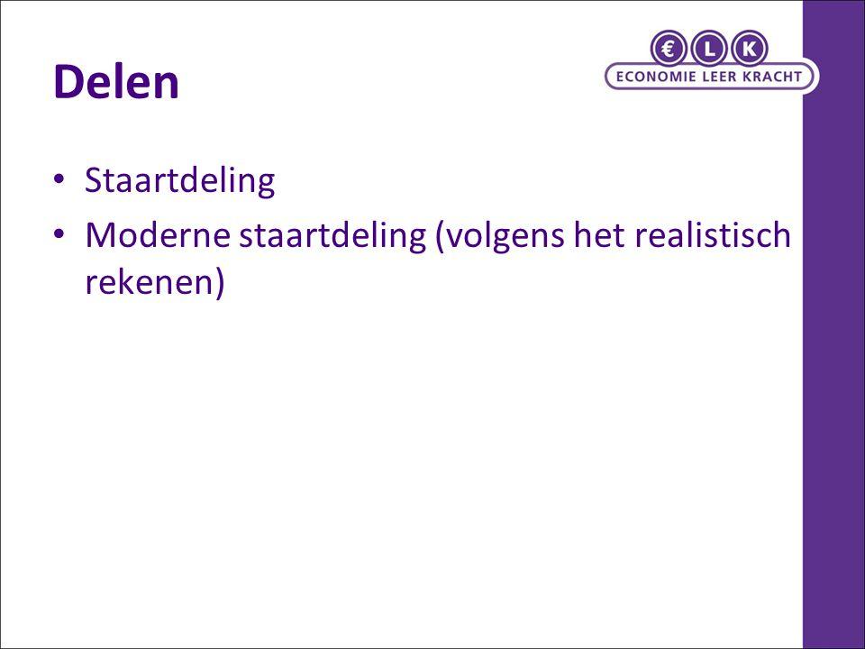Delen Staartdeling Moderne staartdeling (volgens het realistisch rekenen)