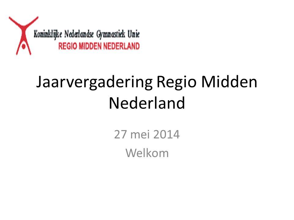 Jaarvergadering Regio Midden Nederland 27 mei 2014 Welkom