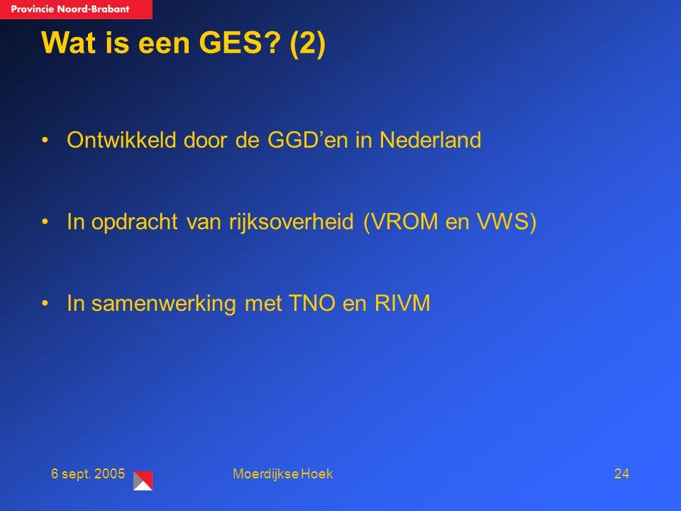 246 sept. 2005Moerdijkse Hoek Wat is een GES.