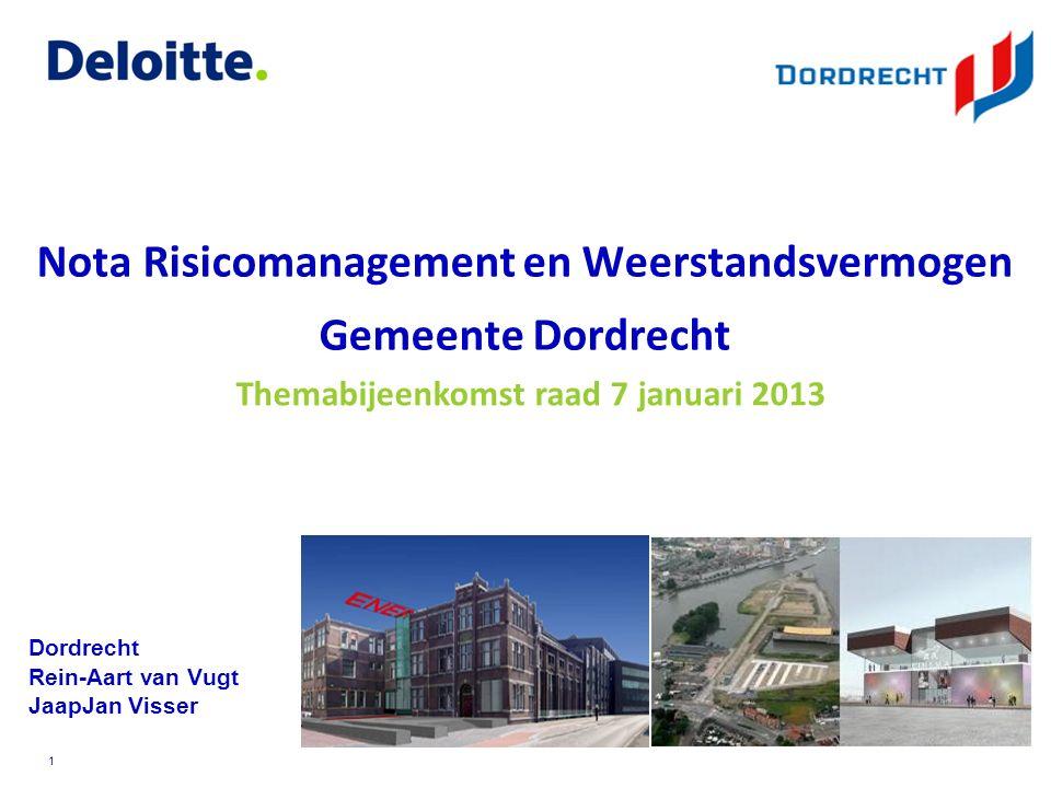 ©Deloitte © 2010 Deloitte Touche Tohmatsu Onderwerpen: 1.Beleidsmatige uitgangspunten en relevante thema's in de concept-nota 2.Voldoende handvaten om risico's in beeld te brengen en beheersmaatregelen te treffen 3.