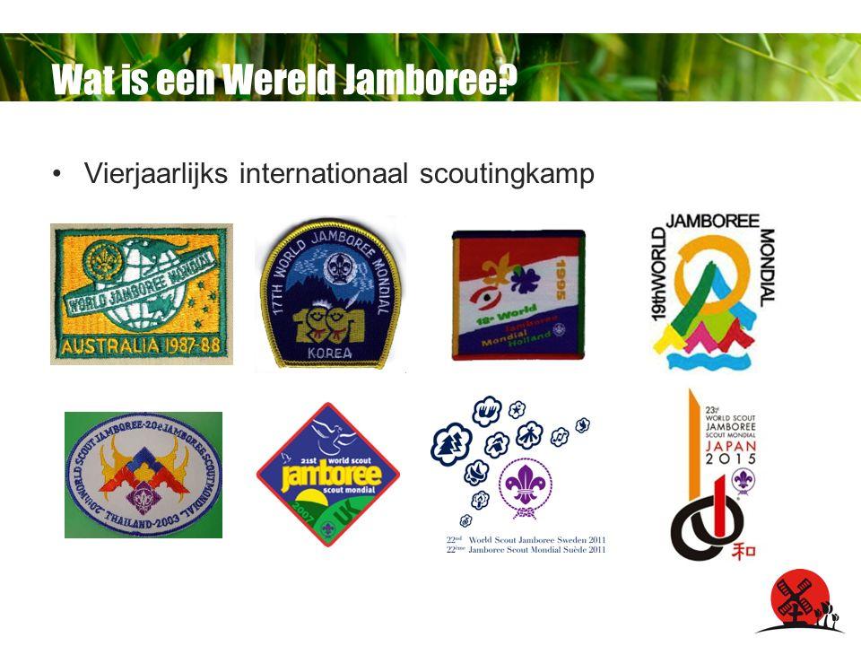 Wat is een Wereld Jamboree Vierjaarlijks internationaal scoutingkamp