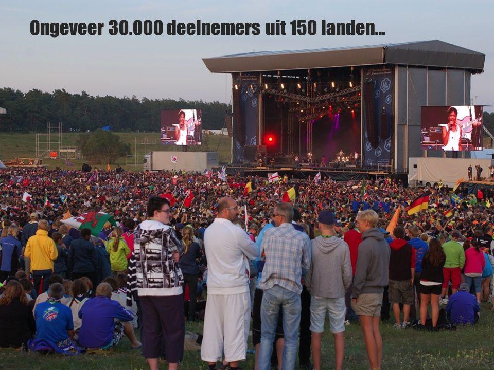 Wat is een Wereld Jamboree? Ongeveer 30.000 deelnemers uit 150 landen…