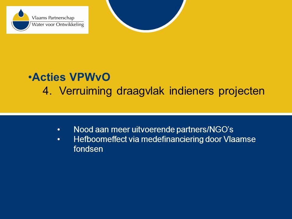 Acties VPWvO 5.Aanboren van andere financiële middelen Legaten Fondsen