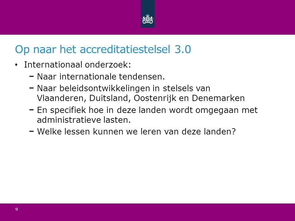 Op naar het accreditatiestelsel 3.0 Internationaal onderzoek: Naar internationale tendensen.