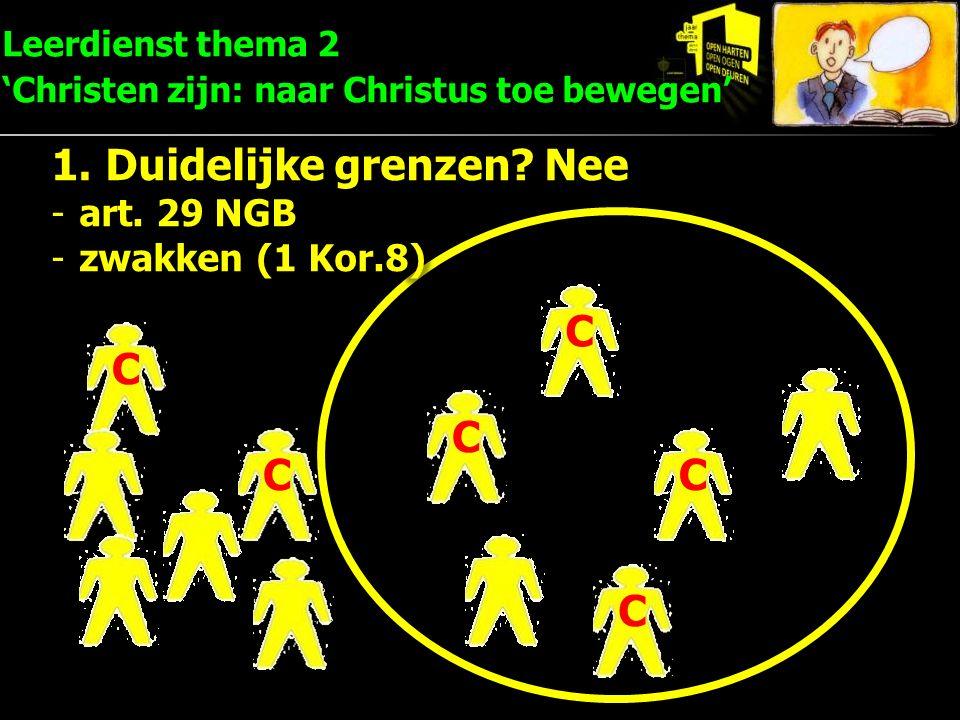 C C C C C C Leerdienst thema 2 'Christen zijn: naar Christus toe bewegen'