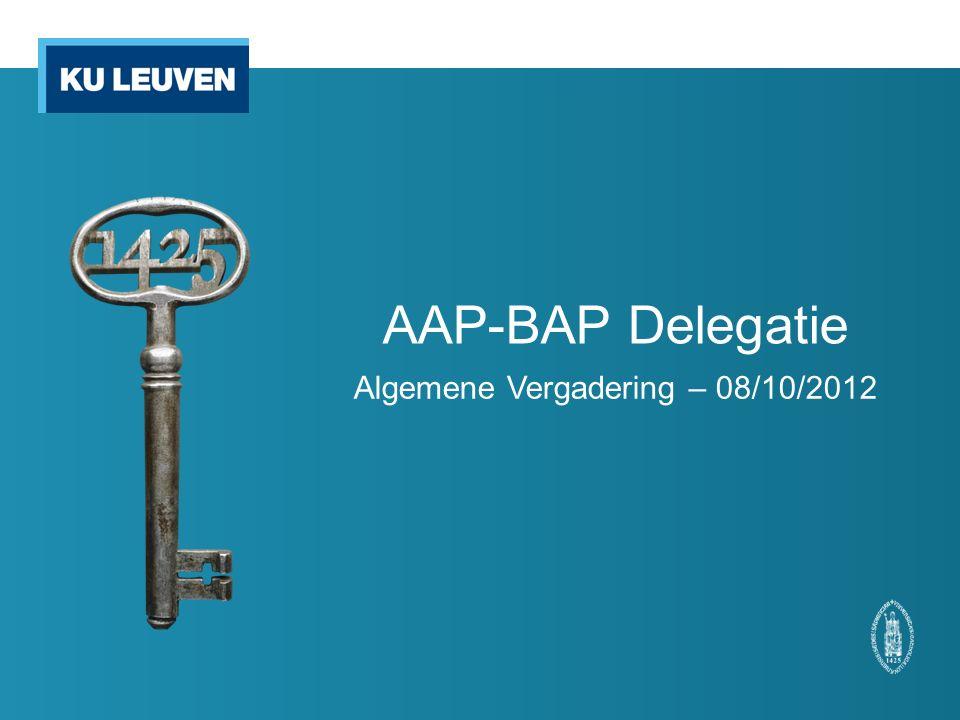 AAP-BAP Delegatie Algemene Vergadering – 08/10/2012