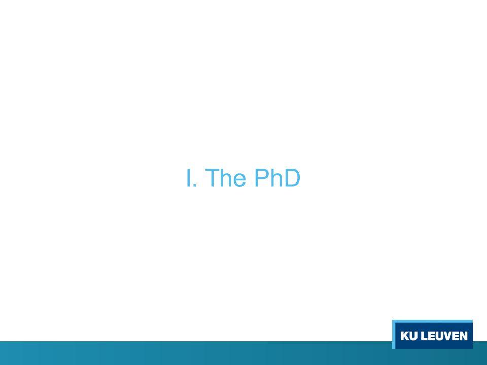 I. The PhD