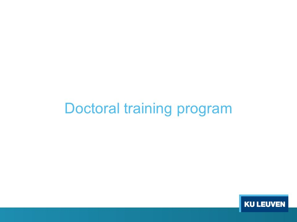 Doctoral training program