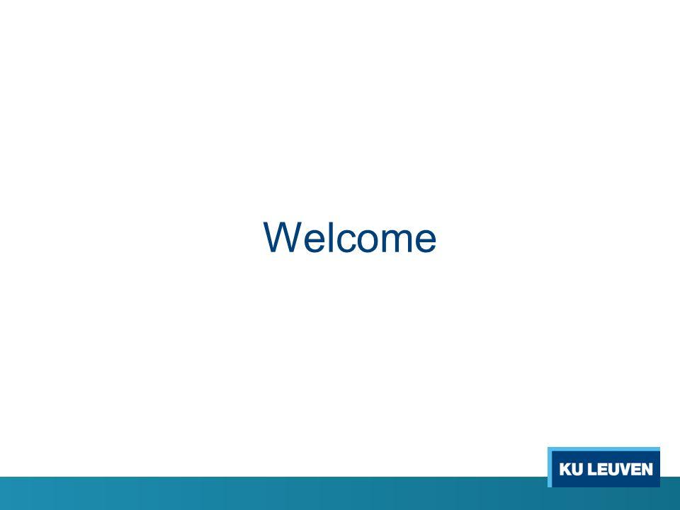 PART II – Algemene Vergadering o 1.Verwelkoming door de decaan o 2.