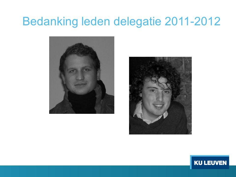 Bedanking leden delegatie 2011-2012