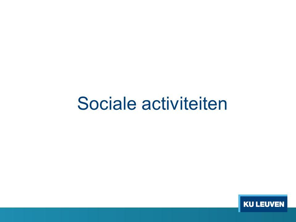 Sociale activiteiten