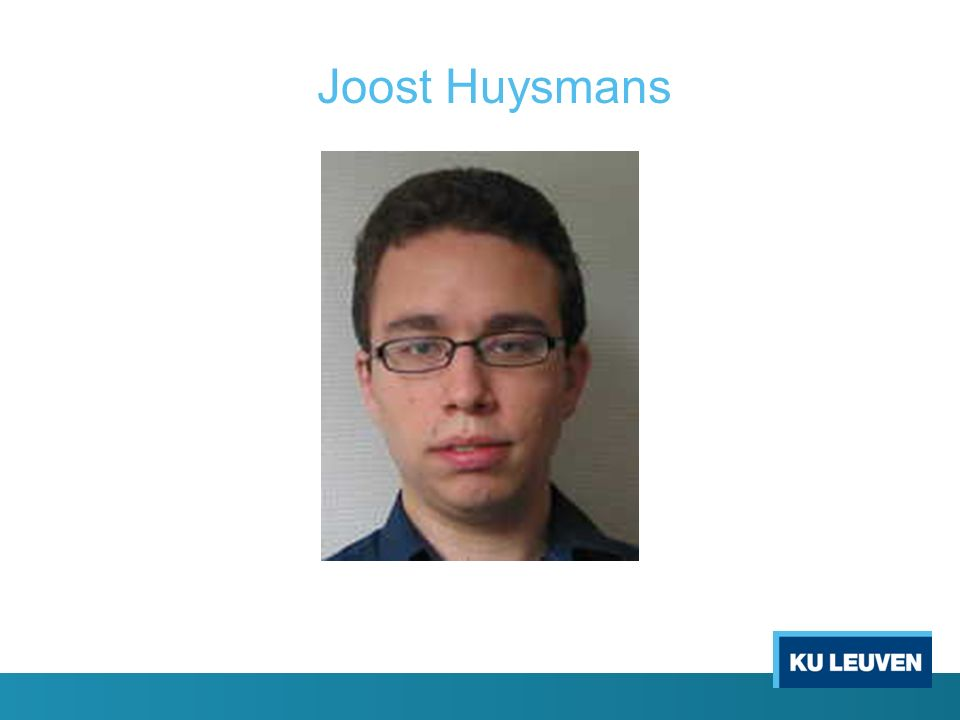 Joost Huysmans