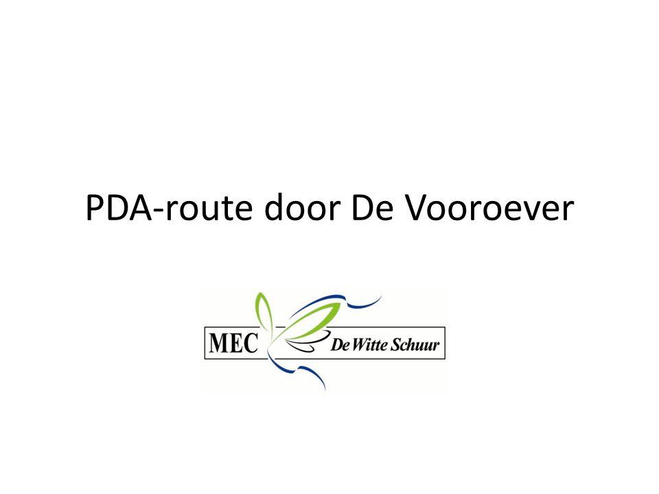 PDA-route door De Vooroever