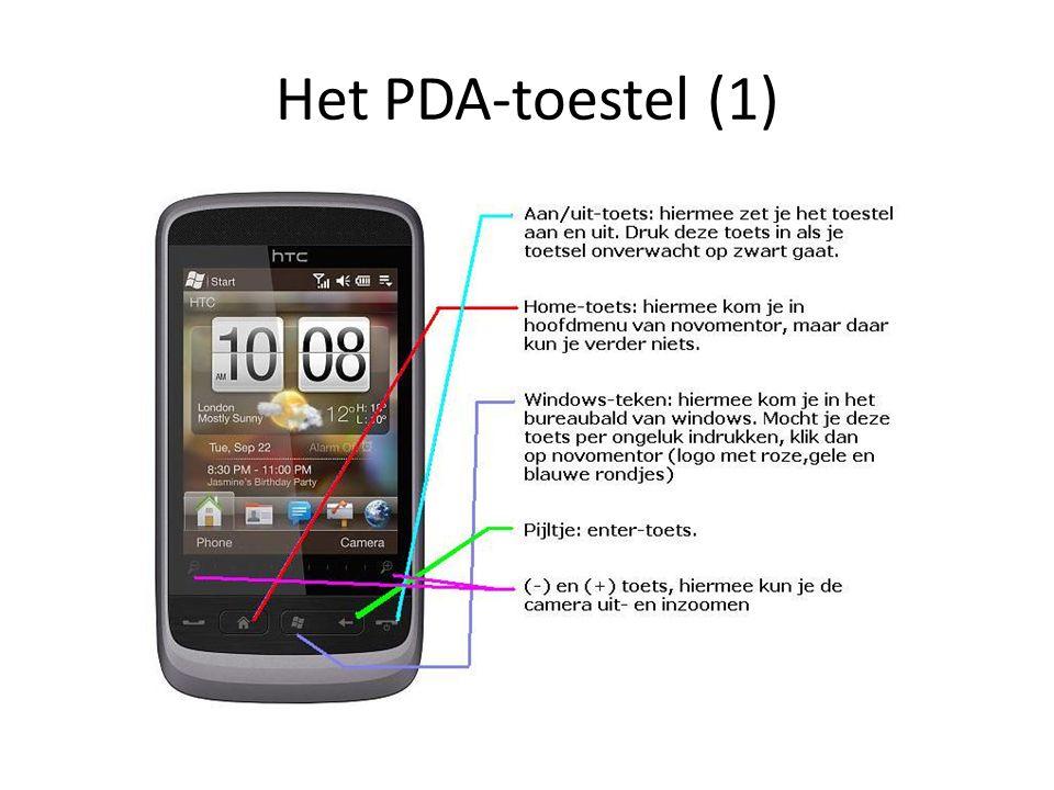 Het PDA-toestel (1)