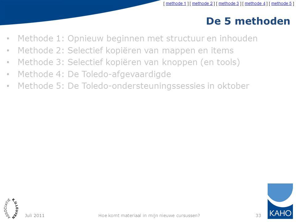 De 5 methoden Methode 1: Opnieuw beginnen met structuur en inhouden Methode 2: Selectief kopiëren van mappen en items Methode 3: Selectief kopiëren va