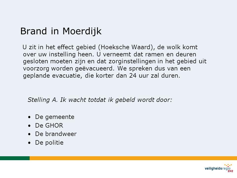 Brand in Moerdijk U zit in het effect gebied (Hoeksche Waard), de wolk komt over uw instelling heen.