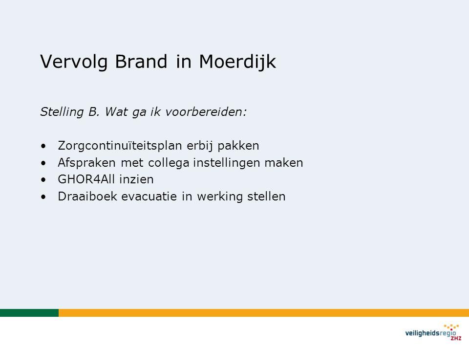 Vervolg Brand in Moerdijk Stelling B.