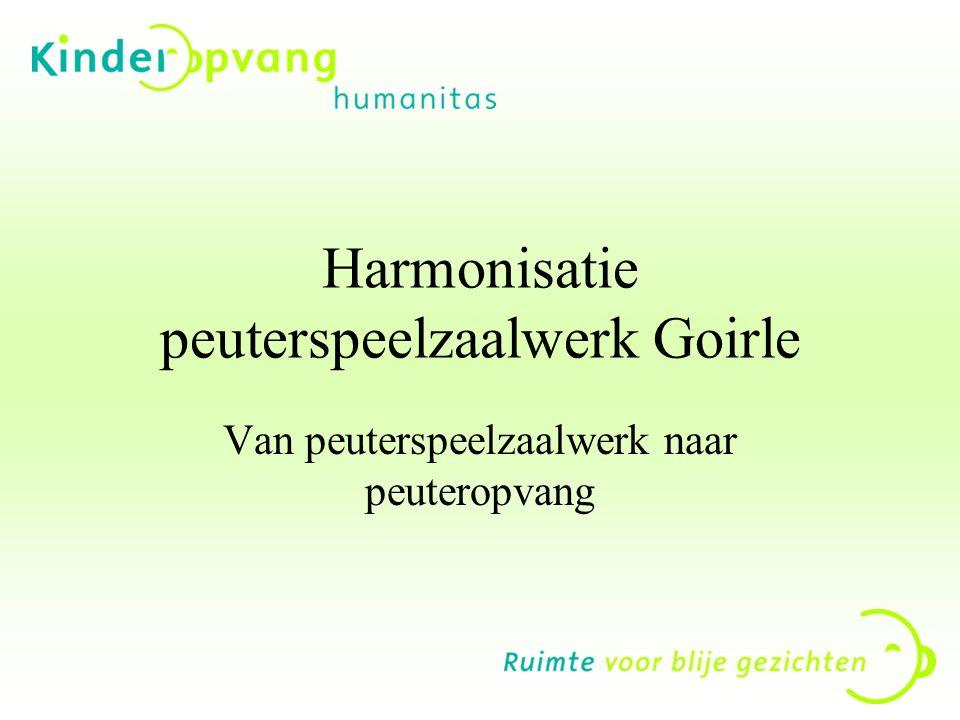 Harmonisatie peuterspeelzaalwerk Goirle Van peuterspeelzaalwerk naar peuteropvang